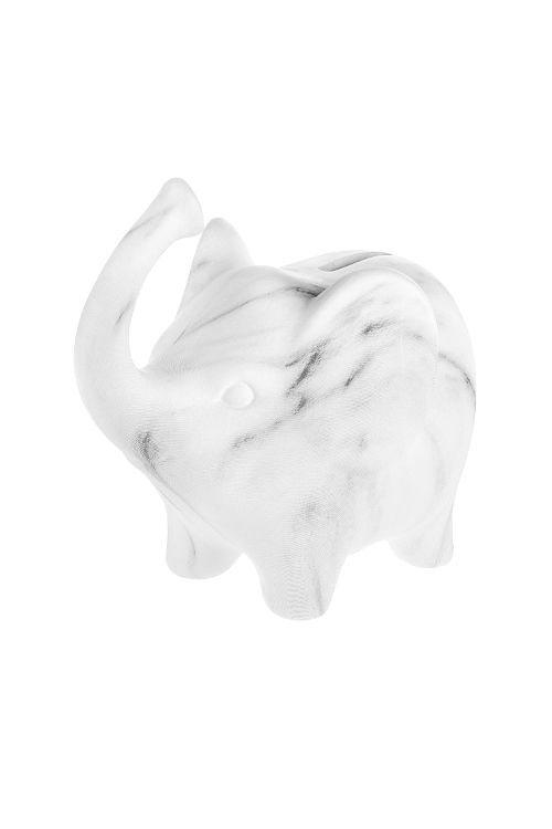 Копилка Мраморный слоникСтатуэтки Слонов<br>17.5*11*15см, керам., бело-серая<br>