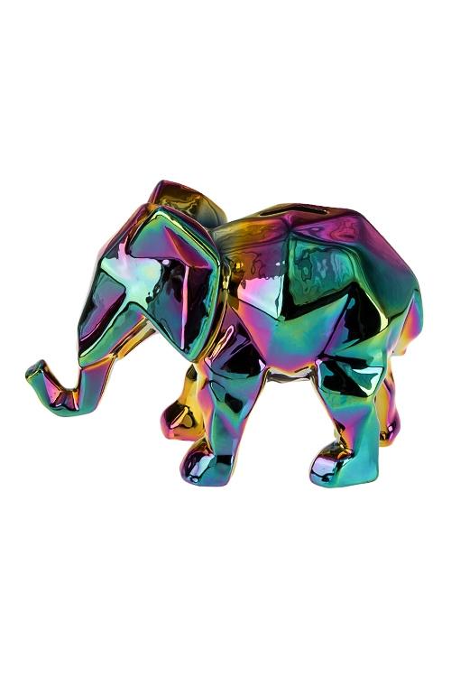Копилка Слон - оригамиИнтерьер<br>21*10*14.5см, керам., разноцв.<br>