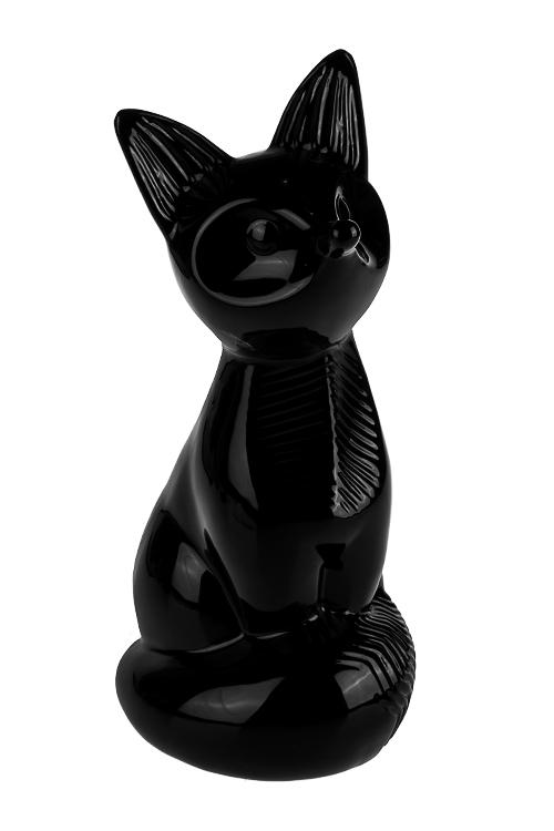Копилка ЛисичкаСувениры и упаковка<br>12*13.5*26см, керам., черная<br>