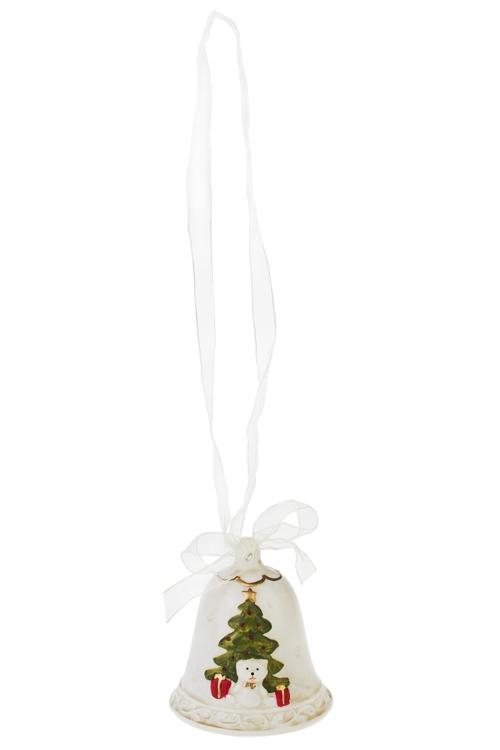 Колокольчик декоративный Веселый праздникПодарки<br>Выс=9см, фарфор (2 вида)<br>