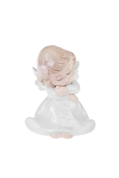 Фигурка Милашка-ангелокФигурки<br>7*7*9см, фарфор, бело-крем.<br>