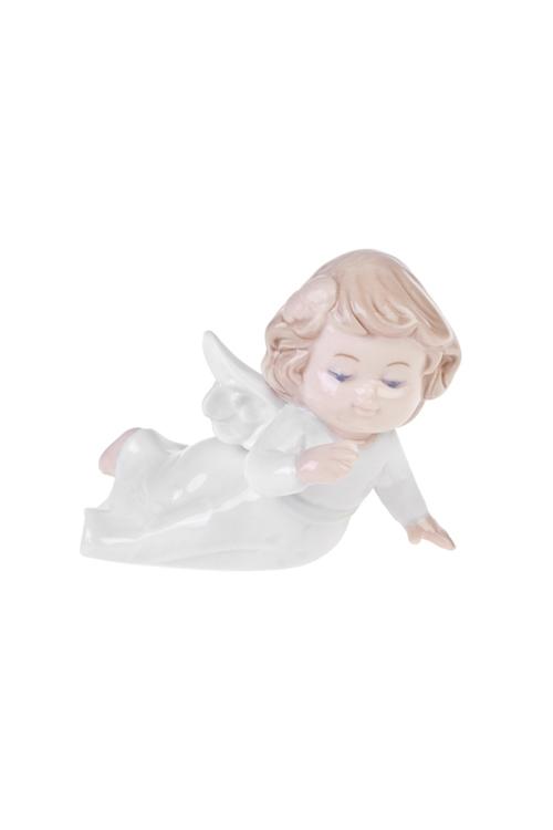 Фигурка Малышка-ангелокСувениры и упаковка<br>10*8*7см, фарфор, бело-крем.<br>