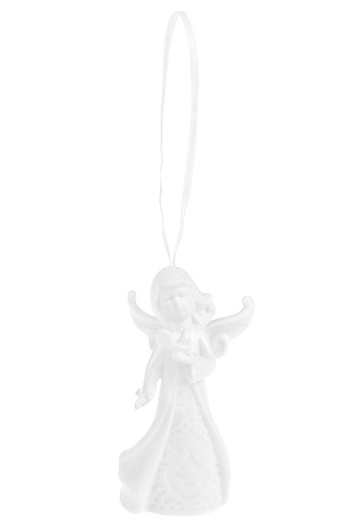 Колокольчик декоративный Сказочная феяСувениры и упаковка<br>Выс=11см, фарфор, белый, подвесной (3 вида)<br>