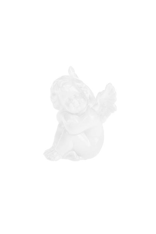 Фигурка Мечтающий ангелокСувениры и упаковка<br>Выс=7см, фарфор, белая<br>
