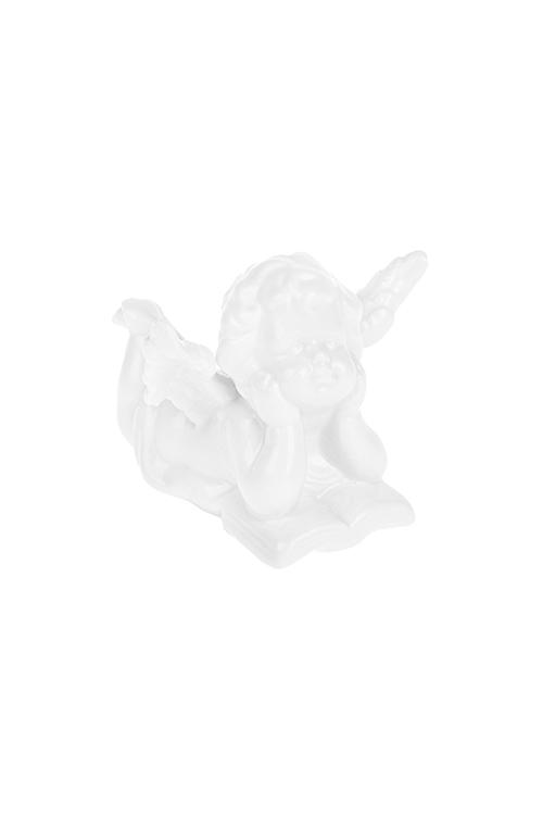 Фигурка Задумчивый ангелокСувениры и упаковка<br>Выс=6.5см, фарфор, белая<br>