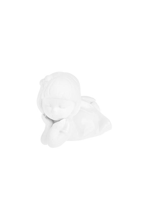Фигурка Мечтающая малышкаСувениры и упаковка<br>Выс=5см, фарфор, белая<br>