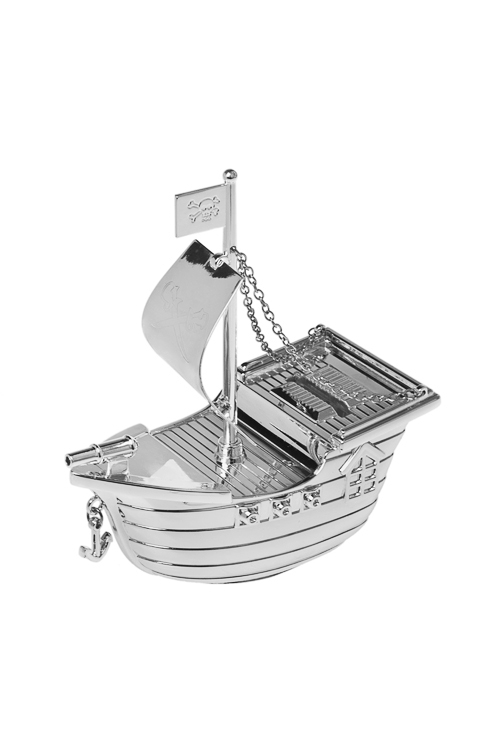 Копилка КорабликСувениры и упаковка<br>14*6*15см, металл, серебр.<br>