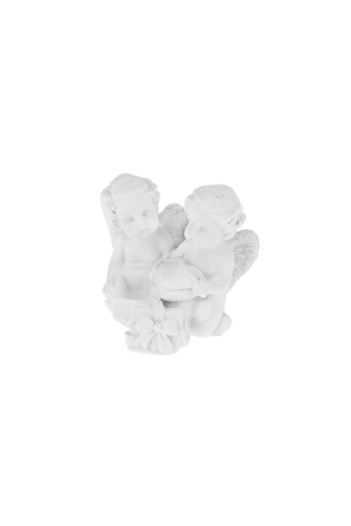 Фигурка Влюбленные улыбчивые ангелочкиСувениры и упаковка<br>4*4см, полирезин, белая (4 вида)<br>