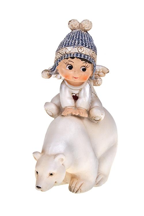 """Фигурка """"Малыш на белом мишке"""" - 1"""