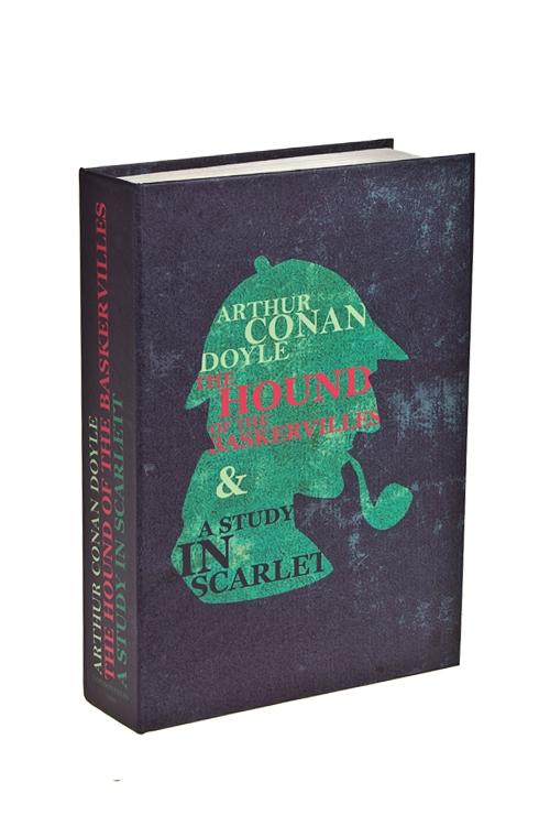 Сейф Лучшие истории Конана ДойляСувениры и упаковка<br>22*15*4см, металл, сине-зеленый<br>