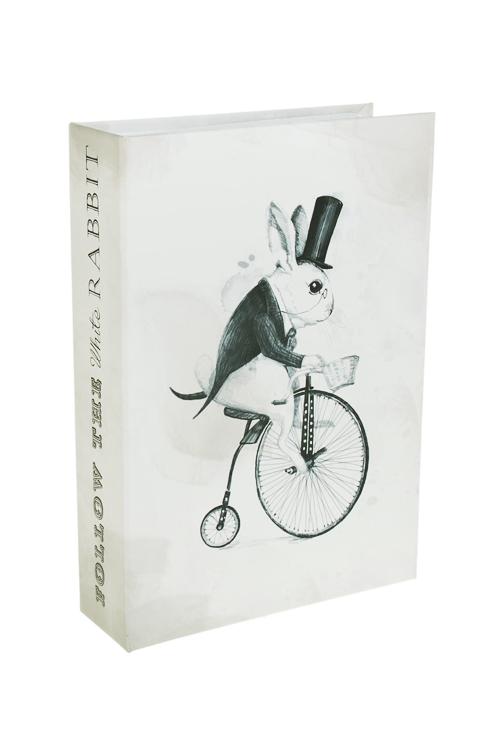 Сейф Следуй за белым кроликомКопилки и сейфы<br>19*13*4см, металл, крем.-черный<br>