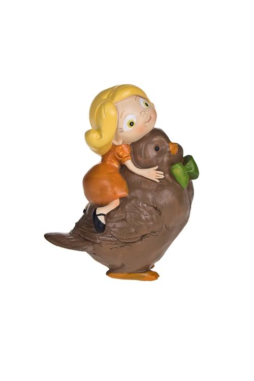 Фигурка Алиса с птичкойСувениры и упаковка<br>8*5*10см, полирезин<br>