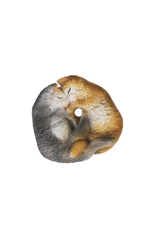 Фигурка Спящие котикиСувениры и упаковка<br>6*5.5*2см, полирезин, беж.-серая<br>