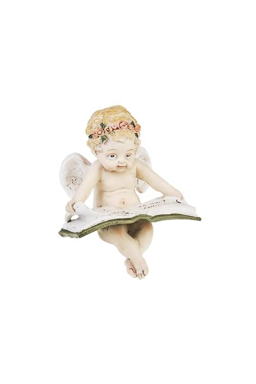 Фигурка Читающий ангелочекСувениры и упаковка<br>6*4*7.5см, полирезин<br>