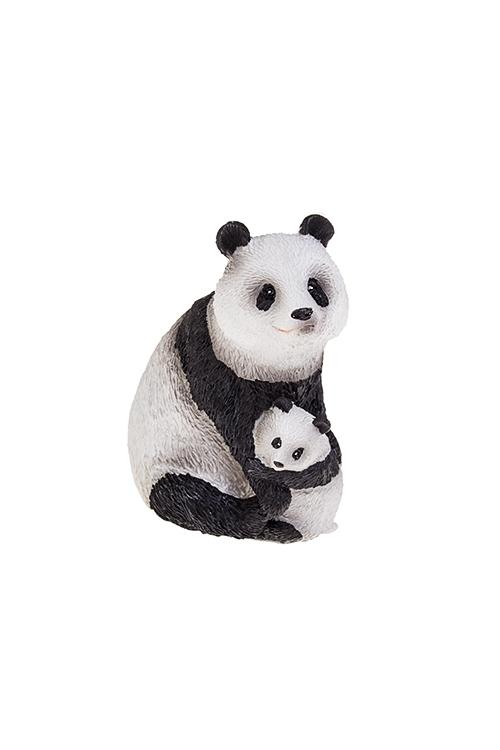 Фигурка Панда с малышомПодарки ко дню рождения<br>6.5*5.5*9см, полирезин, бело-черн.<br>