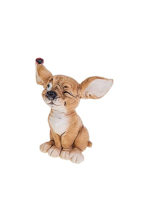 Фигурка Игривый щенокСувениры и упаковка<br>7.5*5*8см, полирезин, крем.-коричн.<br>