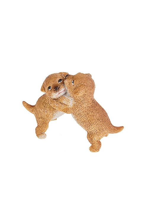 Фигурка Озорные щеночкиСувениры и упаковка<br>10*4.5*7см, полирезин, коричневая<br>