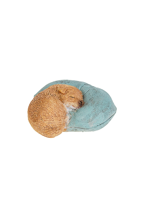 Фигурка Спящий песикФигурки<br>7.5*7.5*3.5см, полирезин, коричн.-голубая<br>