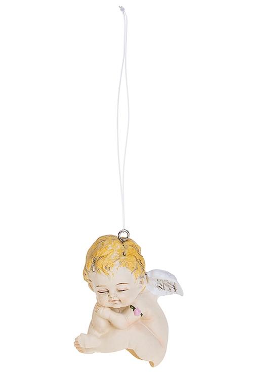 Фигурка-крышка на бутылку Спящий ангелСувениры и упаковка<br>5*4*6.5см, полирезин, подвесная, (крышка на бутылку)<br>
