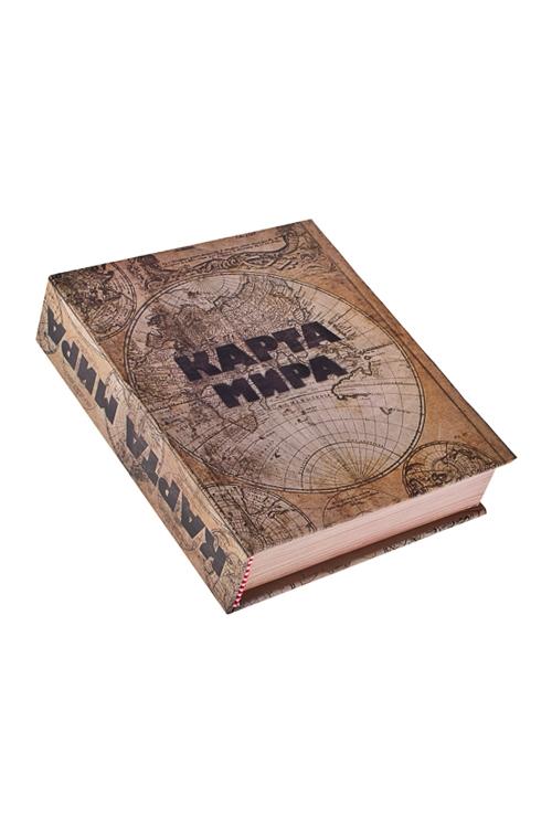 Набор подарочный Карта мираПодарки ко дню рождения<br>Картон, металл (штопор, кольцо бут., каплеулов.)<br>