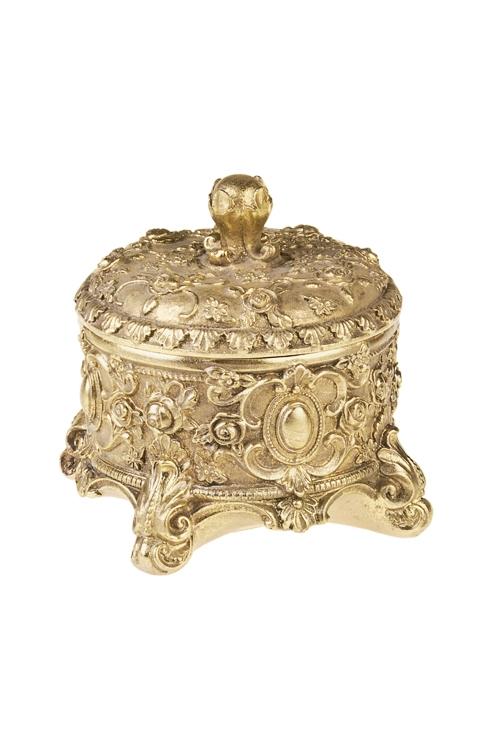 Шкатулка Имперский шикШкатулки для украшений<br>14*13.5см, полирезин, золот.<br>