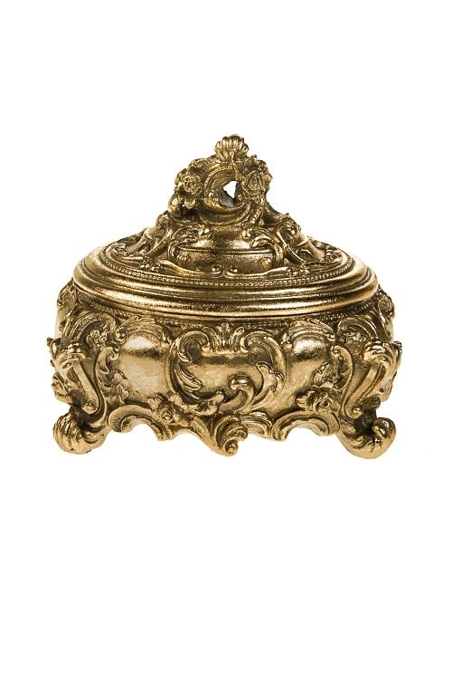 Шкатулка Императорская историяШкатулки и наборы по уходу<br>16.5*13*14см, полирезин, золот.<br>