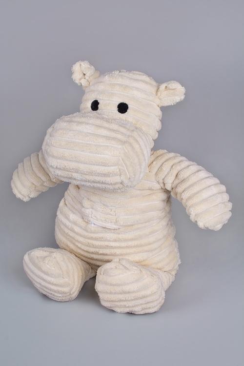 Игрушка мягконабивная/грелка БегемотикСувениры и упаковка<br>Выс=25см, текстиль, силикон. гранулы, белая<br>