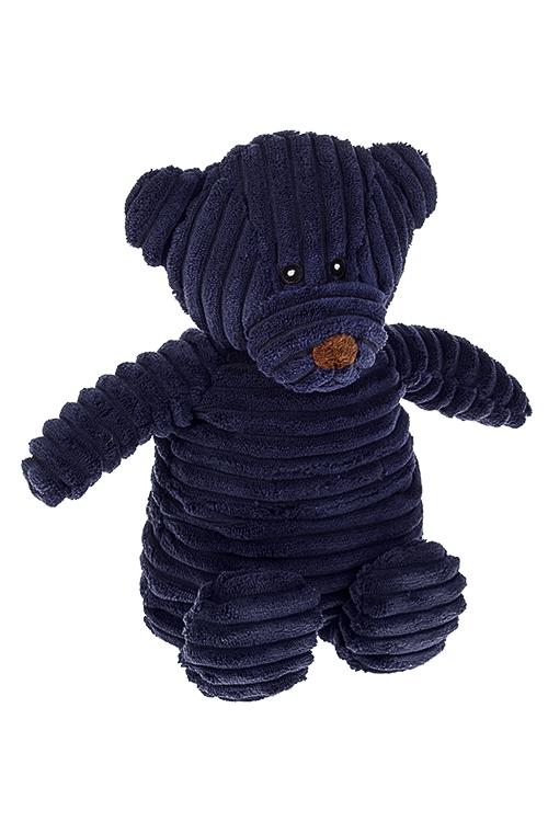Игрушка мягконабивная/грелка МишуткаИгрушки и куклы<br>Выс=25см, текстиль, силикон. гранулы, темно-синяя<br>