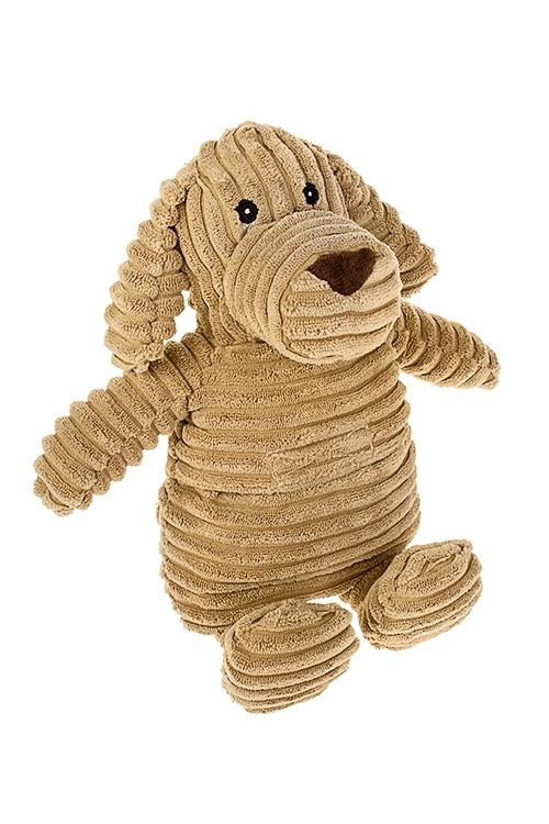 Игрушка мягконабивная/грелка СобачкаИгрушки и куклы<br>Выс=25см, текстиль, силикон. гранулы, светло-коричневая<br>