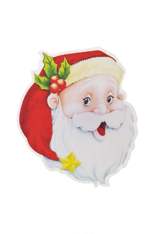 Держатель-магнит Дедушка МорозСувениры и упаковка<br>Выс=10см, ПВХ, пластм., с подсветкой, на батар.<br>
