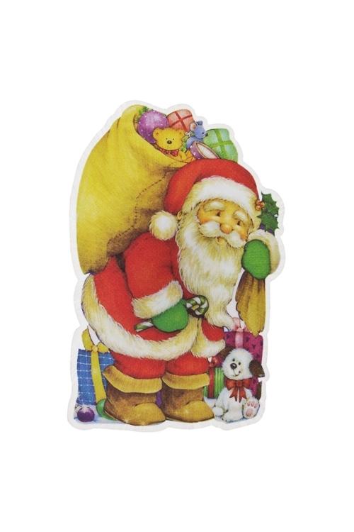 Держатель-магнит Дед Мороз с подаркамиВыс=10см, ПВХ, пластм., с подсветкой, на батар. (3 вида)<br>