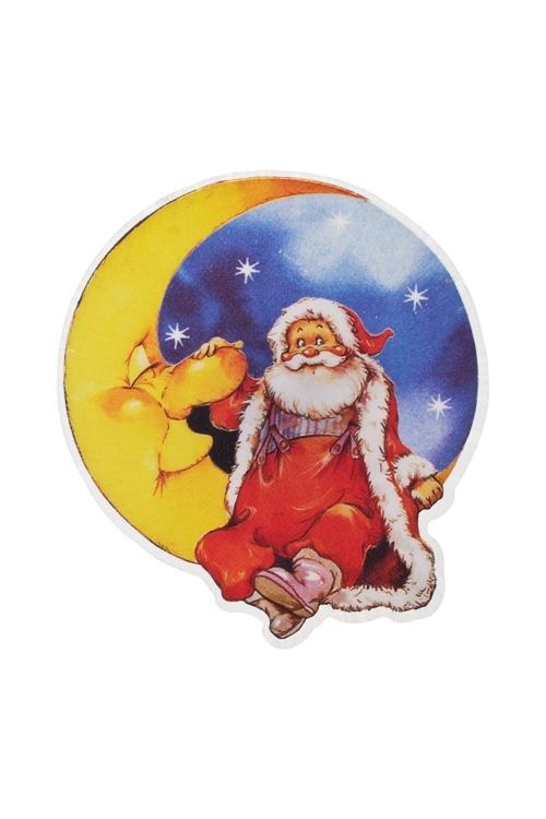 Держатель-магнит Дедушка МорозСувениры и упаковка<br>Выс=9см, ПВХ, пластм., с подсветкой, на батар. (2 вида)<br>