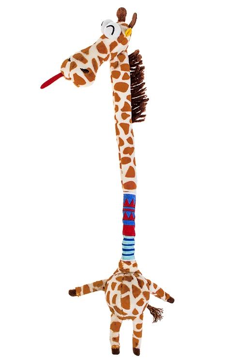 Игрушка мягкая ЖирафПодарки ко дню рождения<br>Дл=38см, текстиль, крем.-коричн.<br>