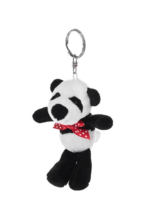 Брелок Счастливая пандаСувениры и упаковка<br>Выс=10см, текстиль, бело-черный<br>
