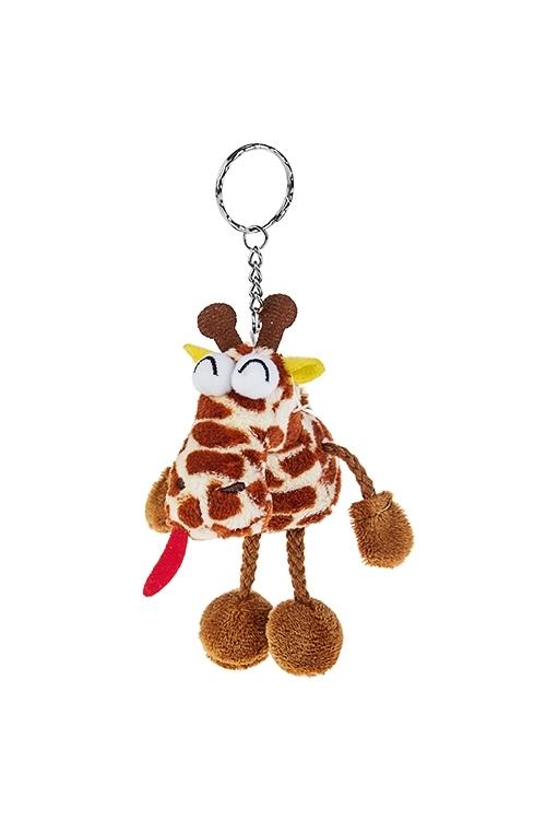 Брелок ЖирафСувениры и упаковка<br>Выс=12см, текстиль, крем.-коричн.<br>