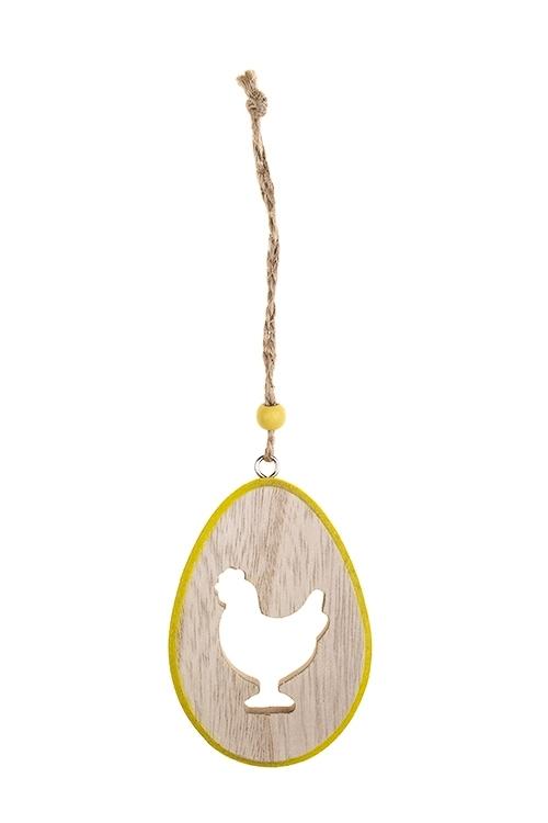Украшение декоративное Курочка в яичкеДекоративные гирлянды и подвески<br>8*5см, дерево, подвесное(2 цвета)<br>