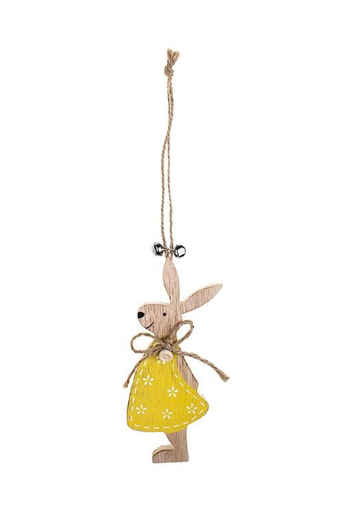 Украшение декоративное Зайка-девочкаСувениры и упаковка<br>8*15см, дерево, подвесное<br>