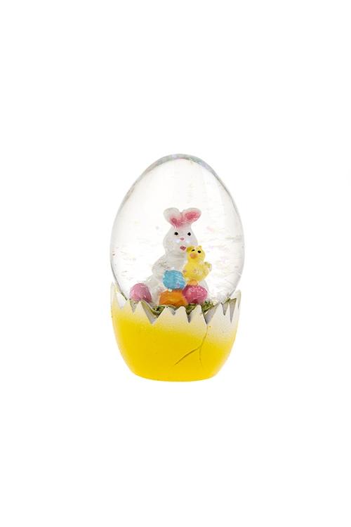 Украшение для интерьера Шар - Зайка в яйцеПодарки<br>Выс=7см, полирезин, стекло<br>
