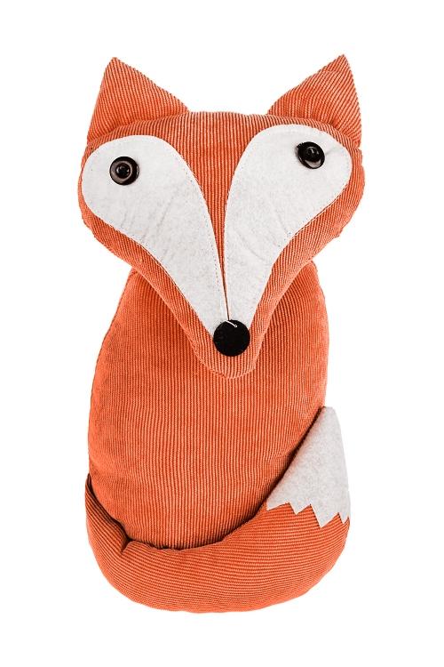 Игрушка мягконабивная ЛисенокПодарки ко дню рождения<br>15*27см, текстиль, оранж.-белая<br>