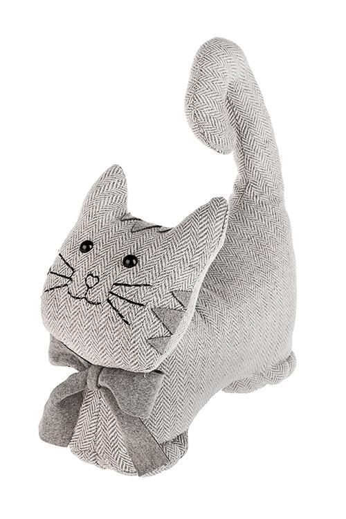 Игрушка мягконабивная КотенокПодарки ко дню рождения<br>28*31см, текстиль, серая<br>