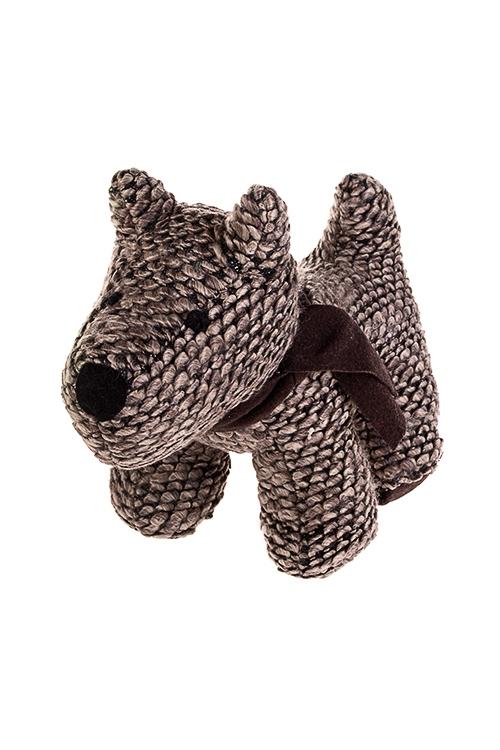 Игрушка мягконабивная СобачкаПодарки ко дню рождения<br>30*21см, текстиль, коричн.<br>