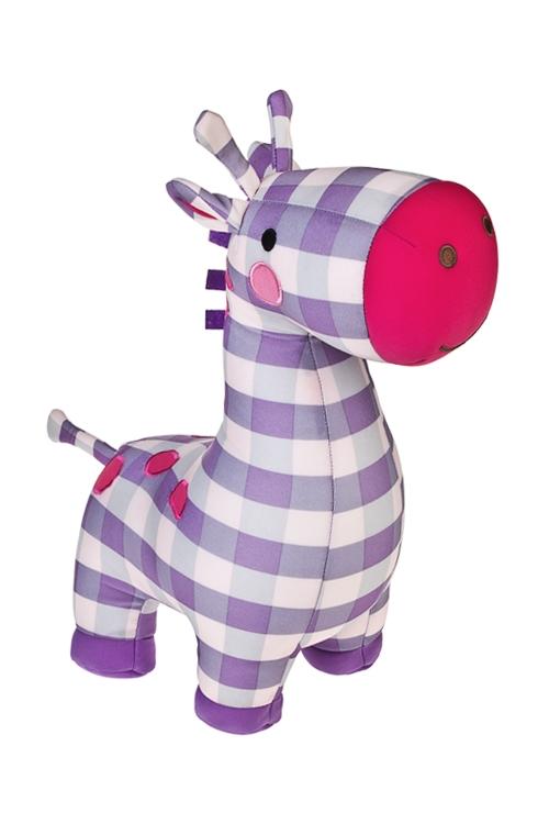 Игрушка мягконабивная Клетчатый жирафПодарки на день рождения<br>34*28*14см, лайкра<br>