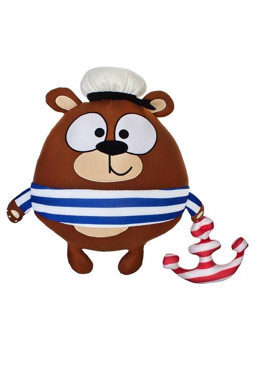 Игрушка мягконабивная Мишка-морякИгрушки и куклы<br>35*30*20см, лайкра<br>