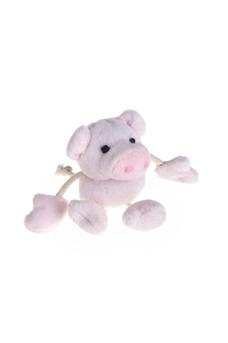 Держатель-магнит Счастливая хрюшаИгрушки и куклы<br>Выс=9см, текстиль, розовый<br>