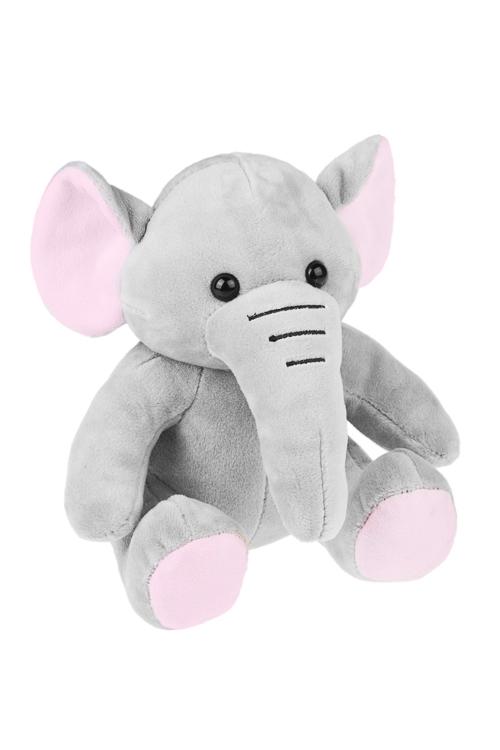 Игрушка мягкая СлоникИгрушки и куклы<br>Выс=18см, текстиль, серо-розовая<br>