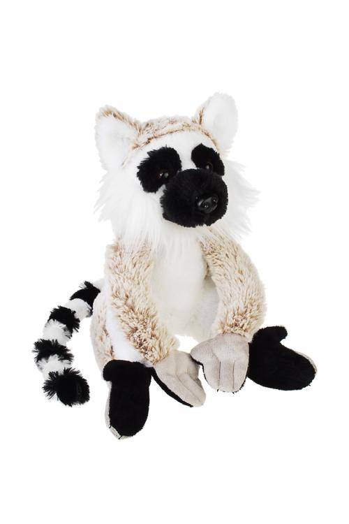 Игрушка мягкая ЛемурПлюшевые игрушки<br>Выс=20см, текстиль, бело-крем.-черная<br>