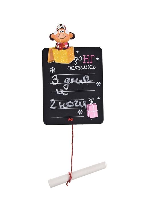 Держатель-магнит Мартышка - танцующая малышка в коробкеИнтерьер<br>12*7см, МДФ, с мелком (для напис. мелом)<br>
