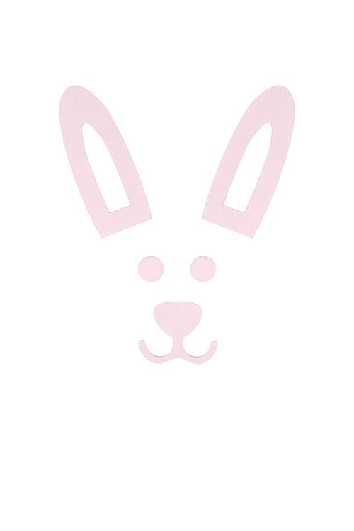Набор держателей-магнитов КроликСувениры и упаковка<br>5-предм., МДФ, картон, розовый<br>