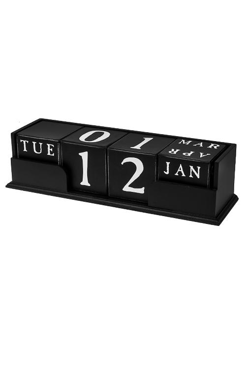 Календарь настольный КубыУчеба и работа<br>35*10*9см, МДФ, черно-белый<br>