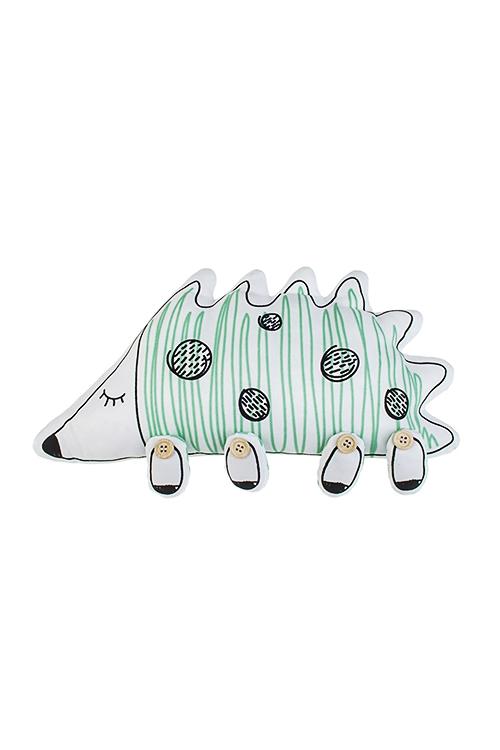 Игрушка мягконабивная ЕжикИгрушки и куклы<br>35*17см, текстиль, бело-зелен.<br>